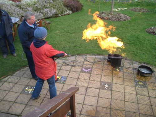 Training – water fire extinguisher at work